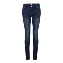 woman fashion washed denim skinny pants ladies designer embroidery jeans