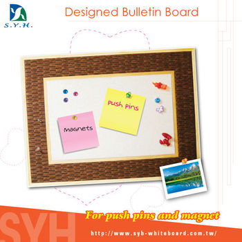 Home decor bulletin board, wood frame Modern Pattern Board