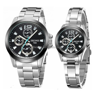 skone Couple watch for mens and ladies quartz watch custom watch made in china