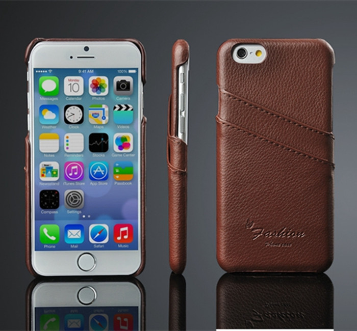 For iPhone 6 Genuine Real Leather protect case