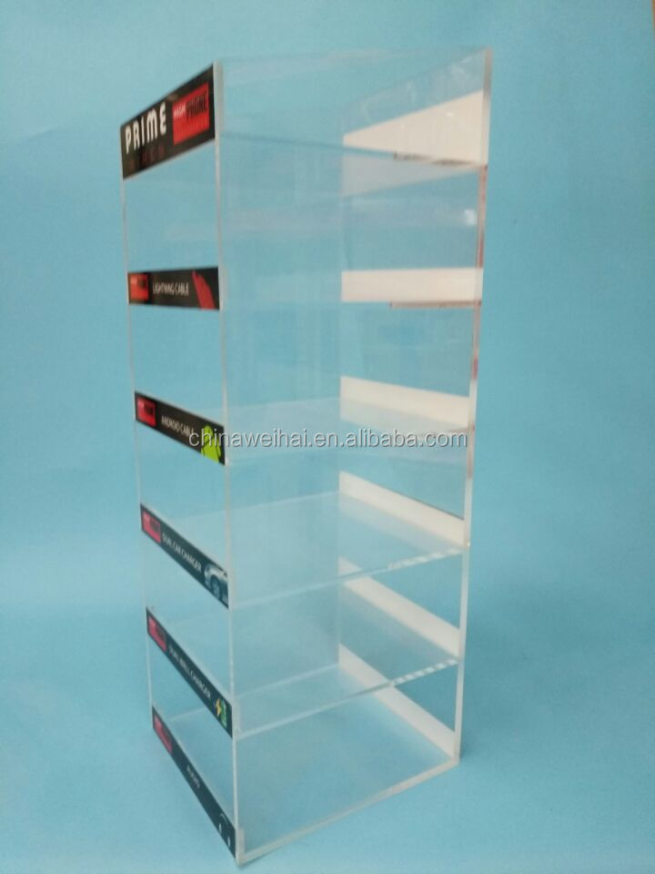 Clear Acrylic Material Cell Phone Accessory Display Stand