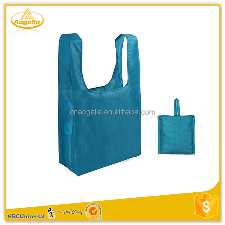 Customized wholesale cheap polyester folding shopping bag