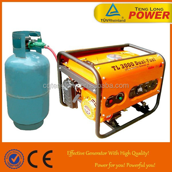 Duel fuel 5kw Gasoline and LPG Electric Generator