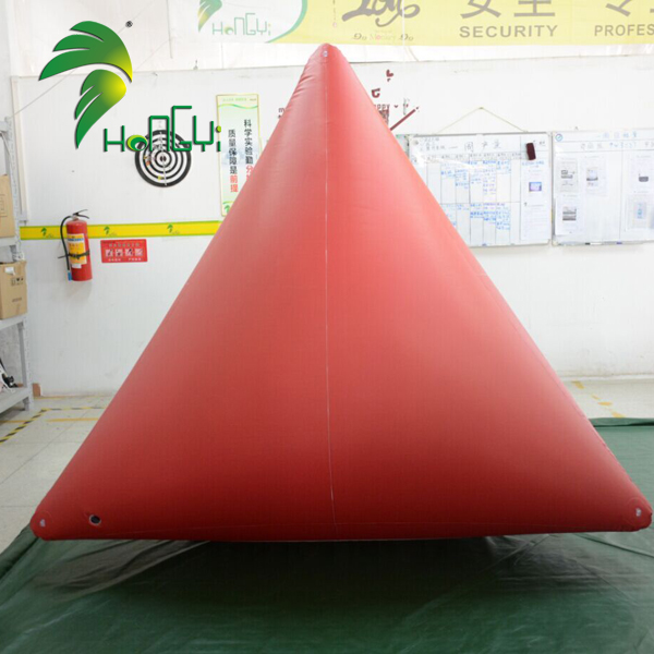Durable Waterproof Printing Display Inflatable PVC Triangle Buoy Maker
