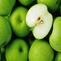 New fresh green fuji apples