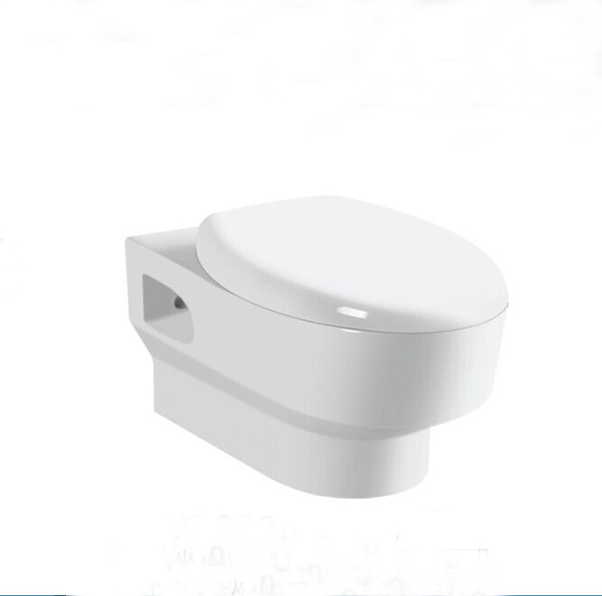 SC032 concealed pipe toilet bathroom square wall mounted toilet