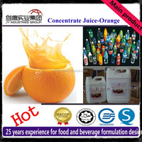 20 Times Concentrated Orange Juice Fruit Syrup Beverage Raw Material Ingredients