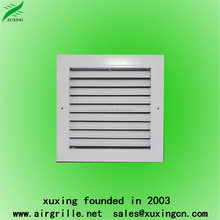 Hot sale prefabricated fixed aluminum air louver iron return modern window grill design