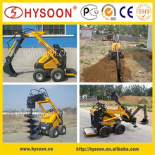 China mini hydraulic soil post hole trench digger for garden
