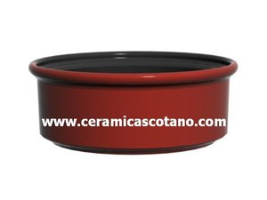 Food ceramic terracotta container (yogurt, honey, pate, cheese, etc)