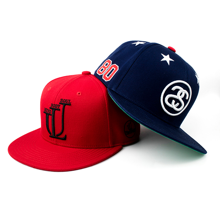 hot sale custom 3d embroidery letters High Crown snapback hats for small heads
