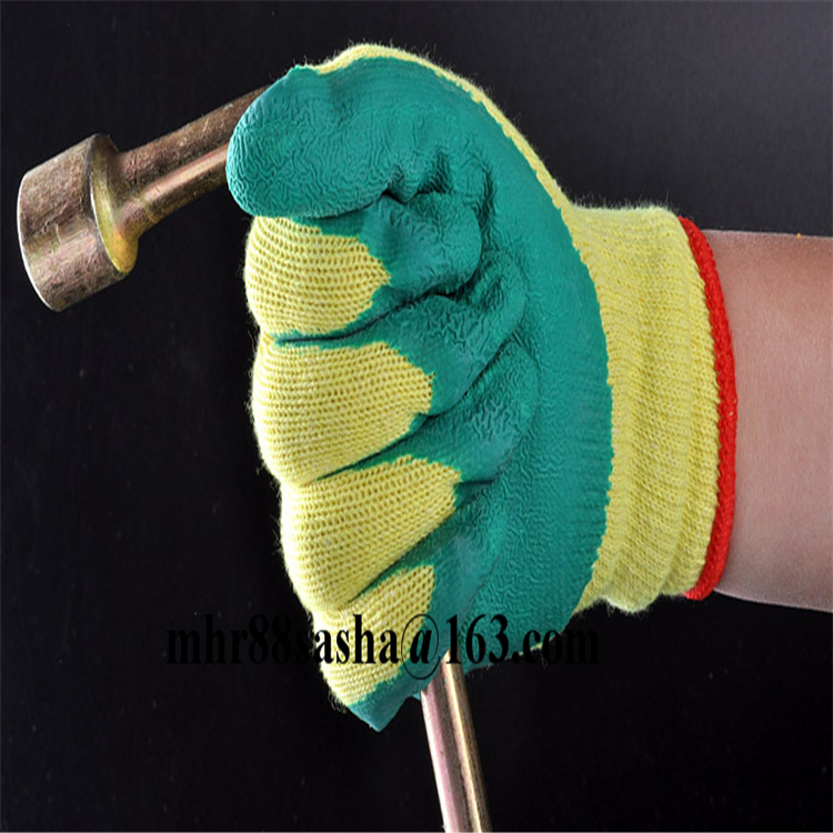 Brand MHR work safety rugged wear nylon liner latex gloves