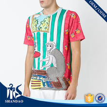 Guangzhou shandao factory o-neck short sleeve180g 100%polyester mens funny online clothes shopping