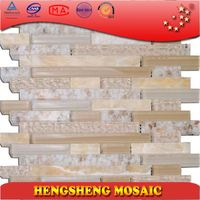 Backsplash ceramic kitchen cement decoration mosaic art glass wall mosaic tile