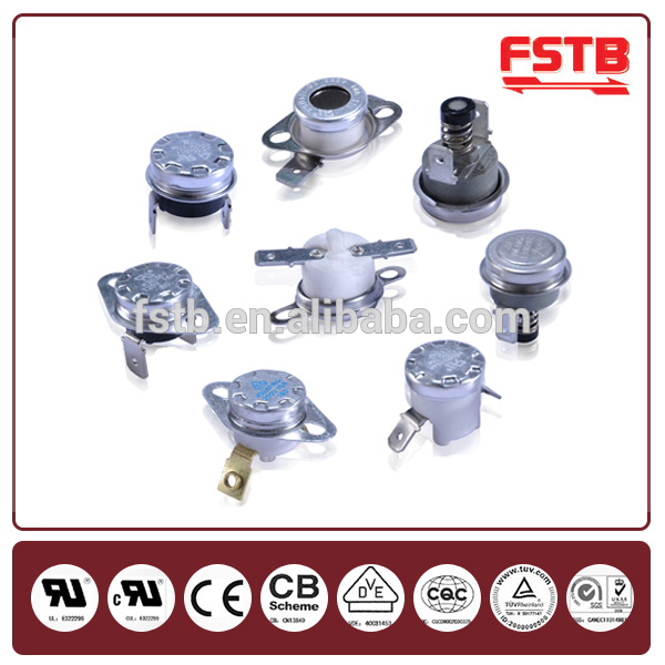 "KSD302 25A Big Current Bakelite overheating protection electric heater thermostats with CQC/TUV from FSTB(7/8"")"