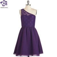 one shoulder evening party dress for women