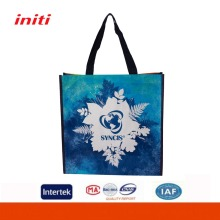 Wholesale Promotional Glossy Laminated tote pp woven shopping bags for shopping