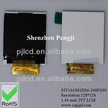 1.44 inch lcd for energy meters manufacturer (PJT144X01H26-200P20N)