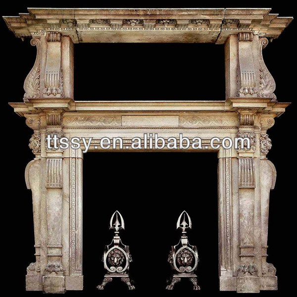 Gray marble ethanol fireplace china
