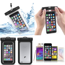 Universal Clear Transparent Waterproof Cellphone Case Cover Dry Bag for Iphone Outdoor Activitie Swimming Surfing Fishing