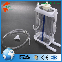 single use disposable unit closed chest drain bottle system with drainage tubing