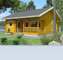 Holiday leisure small log cabin&beach prefab wooden house