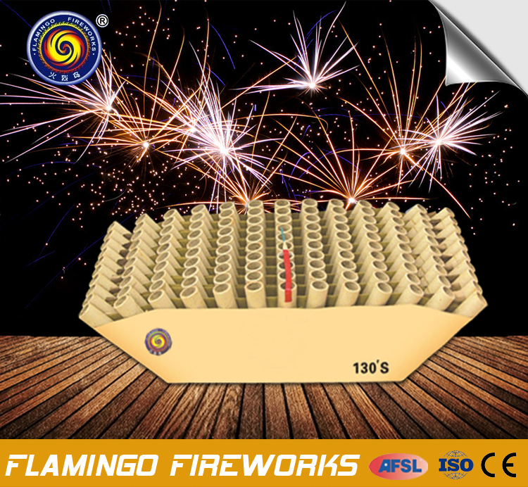 "Professional supplier 1.5"" 130S Display Cake red crown fireworks display shells"