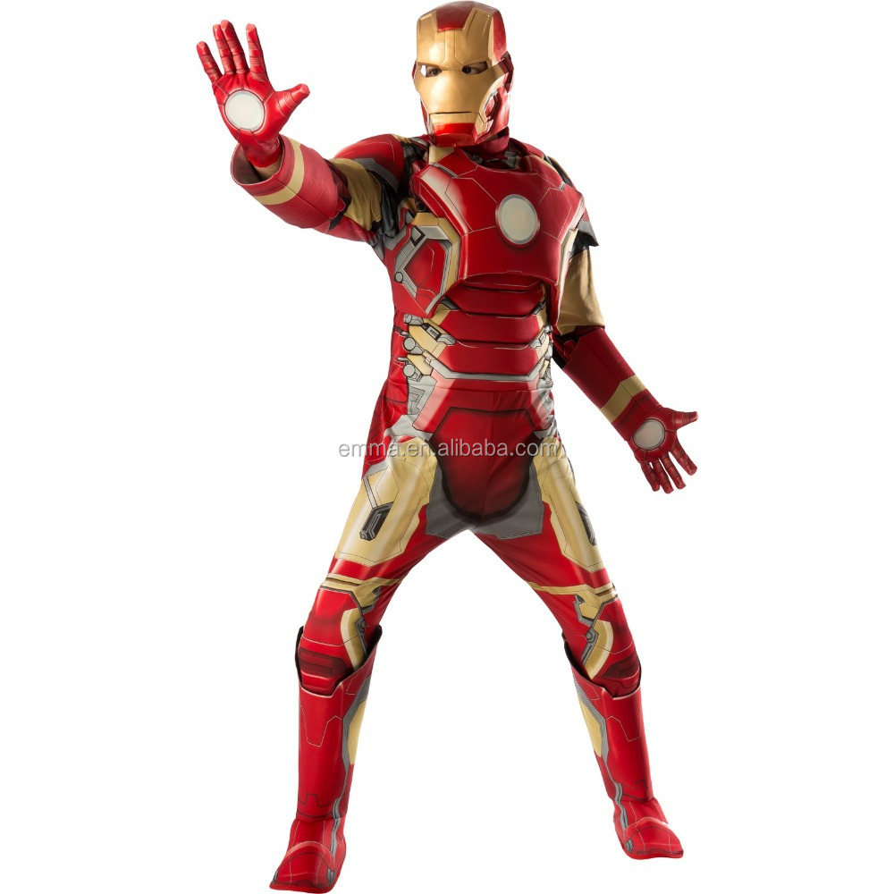 Very popular in the international market cosplay mark 42 muscle iron man costume BMG13001