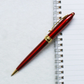 Elegant China Unique Design Fashion Style Ball Point Pen Red Color And Gold Parts Promotional Pen For Woman