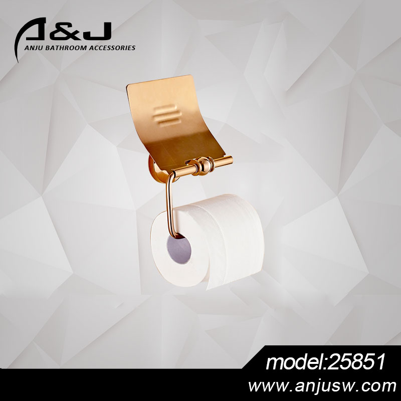 Hotel Style Copper Toilet Paper Holder Tissue Paper Holder Bathroom Accessories Wall Mounted Paper Holder