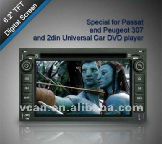 6.2 inch HD digital TFT screen DVD car player mp5 compatible with MP4/DIVX/DVD/VCD/SVCD/CD/MP3/CD-R-RW vcan0270