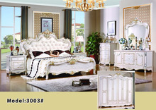 solid wood king size home bedroom furniture/ hand carved wooden bedroom set/alibaba French style king size bedroom