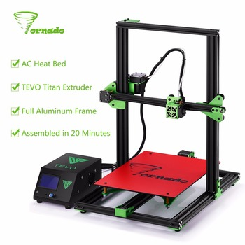 2017 TEVO Tornado Fully Assembled Aluminium Extrusion 3D Printer High Printing Quality impresora 3d printer With Titan Extruder