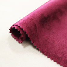 Monad soft plain solid italian velvet fabric for sofa and curtain upholstery cushion cover