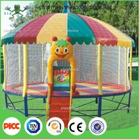 8FT 10FT 12FT 14FT 16FT round outdoor trampoline with roof