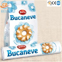 Aluminum foil food packaging film/plastic laminated packing film roll for snack with colored printing