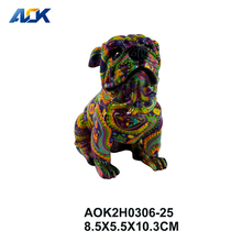 Factory Supply Art Statue Mini Dog Antique Home Decoration Items