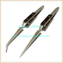 Straight Tips Tweezers Curved Tip Fiber Grips Cross Locking Jewelers Soldering Tools Jewelry Making Tool Length 165mm