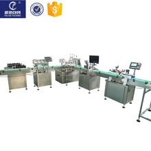 PLC controlled rotary head eliquid filling machine plastic e cig oil 60ml/120ml bottle filler capper machine from PAIXIE