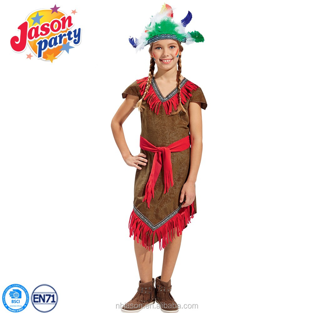 Child Dream Catcher Red Indian Girl Nature Fancy Dress Costumes