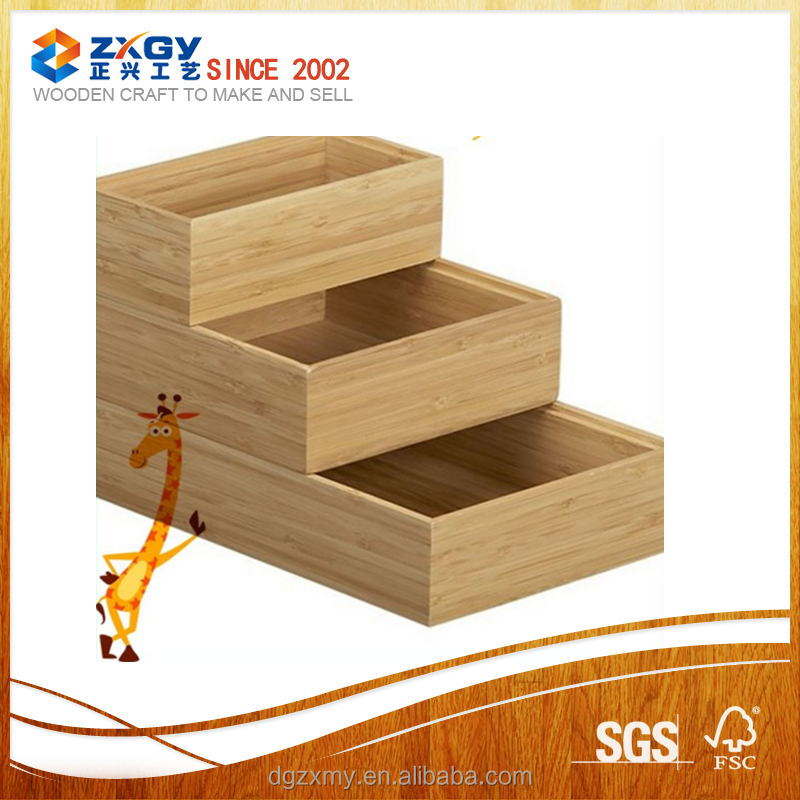 2017 three-piece set box custom wooden boxes