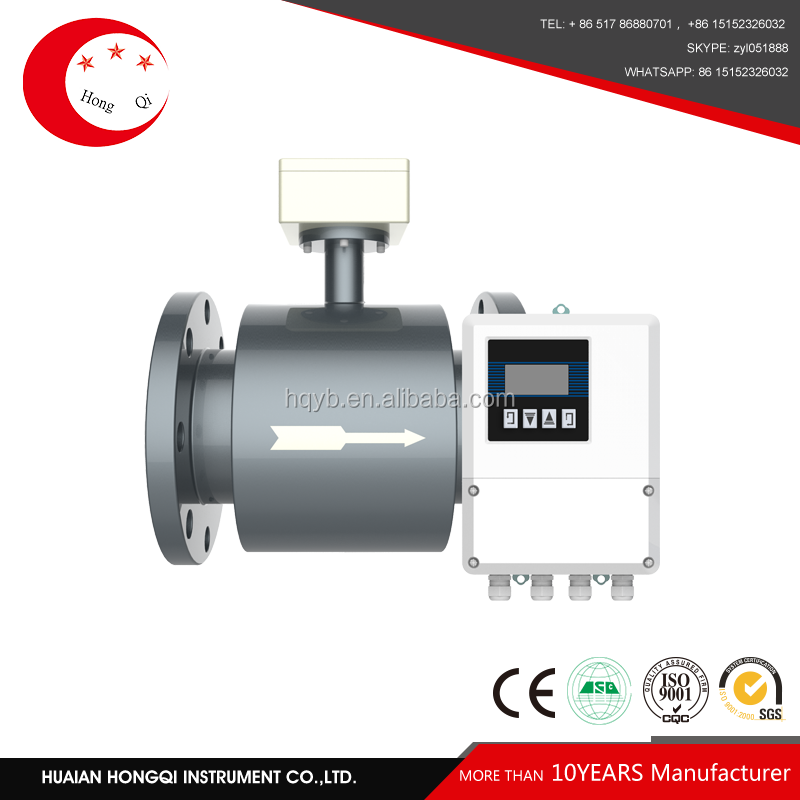 Electromagnetic diesel fuel flow meter with high accuracy