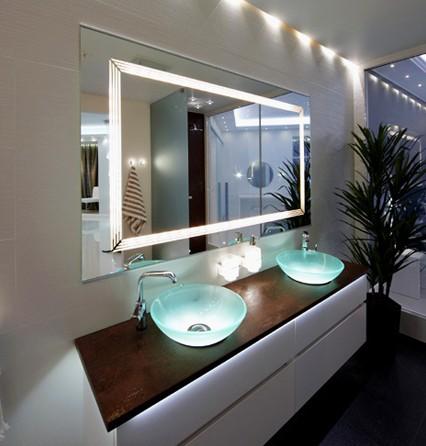 Interruptor do sensor de toque espelho do banheiro com iluminação LED