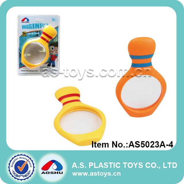 Bowling shape plastic novelty magnifier toy for kids