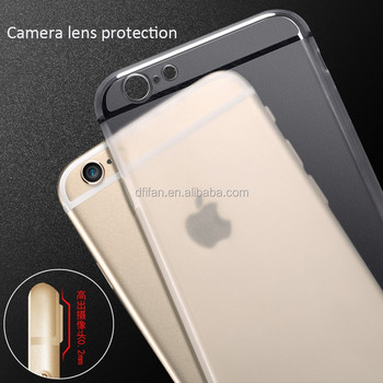 DFIFAN Fashion mobile phone case for apple iphone 6/6s Matte Frosted cell phone clear cover for iphone 6 case