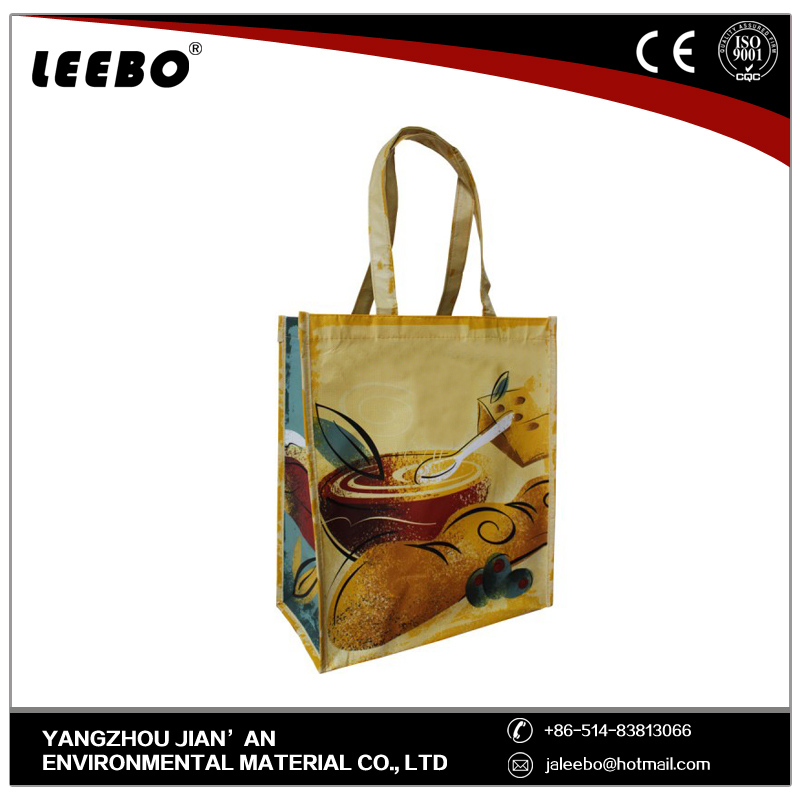 white and colorful Cotton Polyester shopping trolley bag