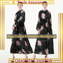 9069# Arabic Woman Clothing Jalabiya Maxi Dress Long Sleeve Fashion Cloth Modern Muslim Islamic Wholesale