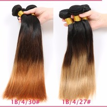Hot sale T ombre black to burgundy 99j brown virgin hair wholesale price human hair extension