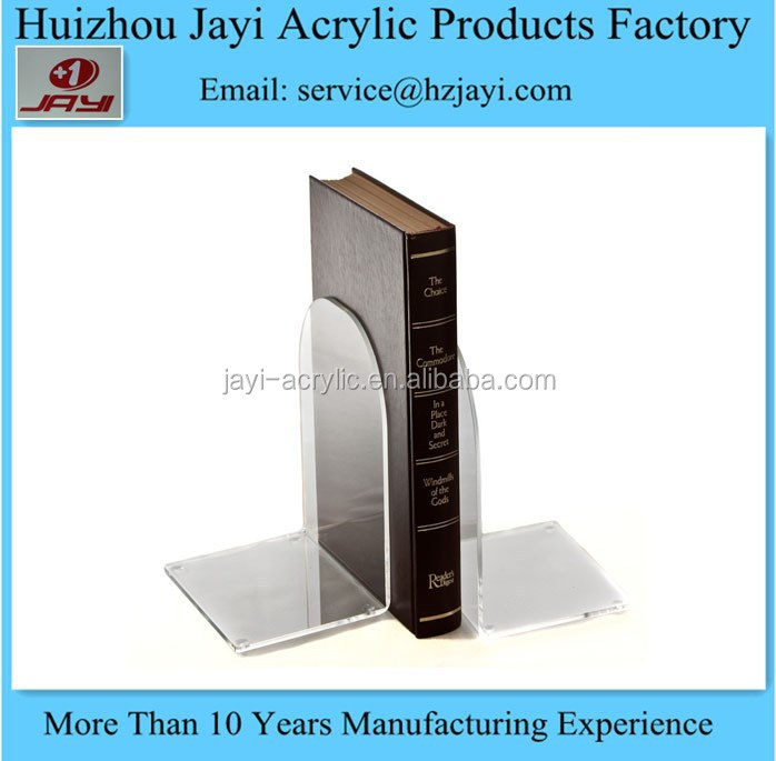 Factory wholesale acrylic library bookend with cute design
