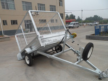 Galvanized farm utility box tandem tipping box trailer